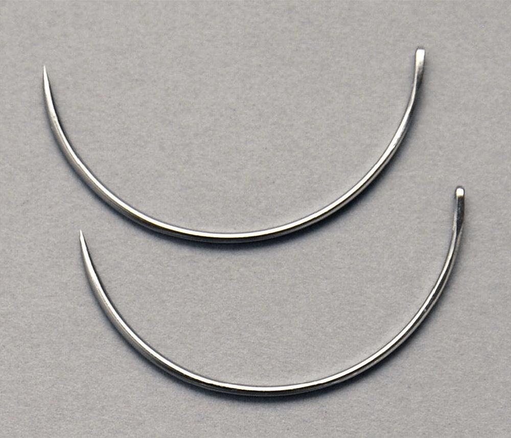 Scalp Needle 1/2 Circle Trocar, .034″ x 1.575″