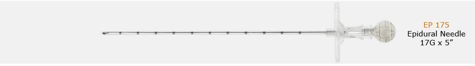 IMD Epidural Needle 17G x 5″