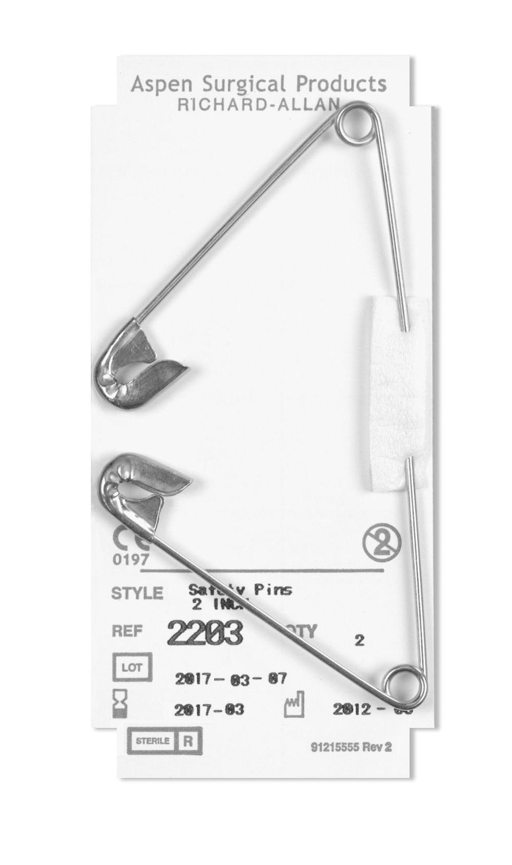 Aspen Surgical Safety Pin 1 Inch